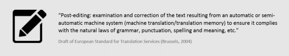 Post-Editing Machine Translation