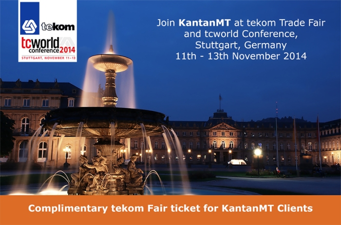 KantanMT tekom trade fair, tcworld