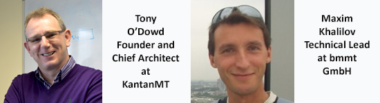 KantanMT and bmmt webinar presenters Tony O'Dowd and Maxim Khalilov