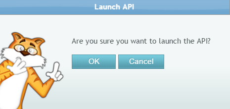 launch Pop-up alert
