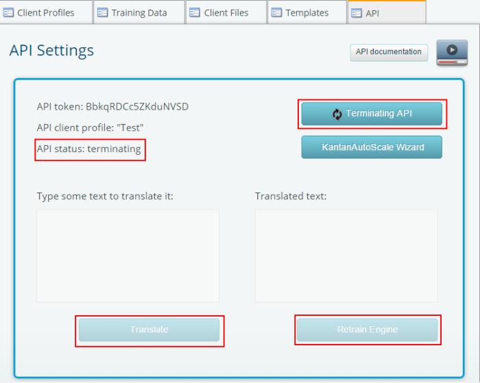 Terminating API
