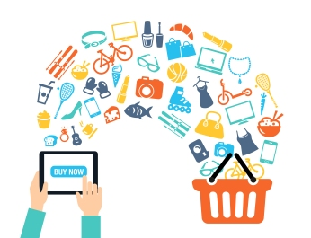 Shopping Online Background