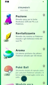 Pokemon Go Italian items